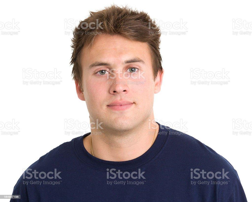 Young Man Mug Shot Portrait royalty-free stock photo