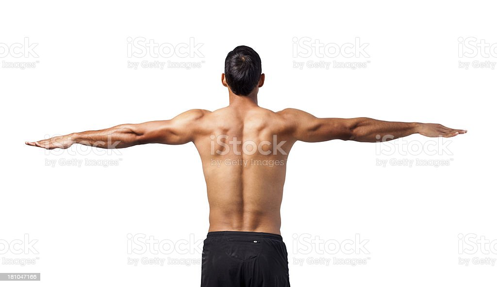 Young man muscular back royalty-free stock photo