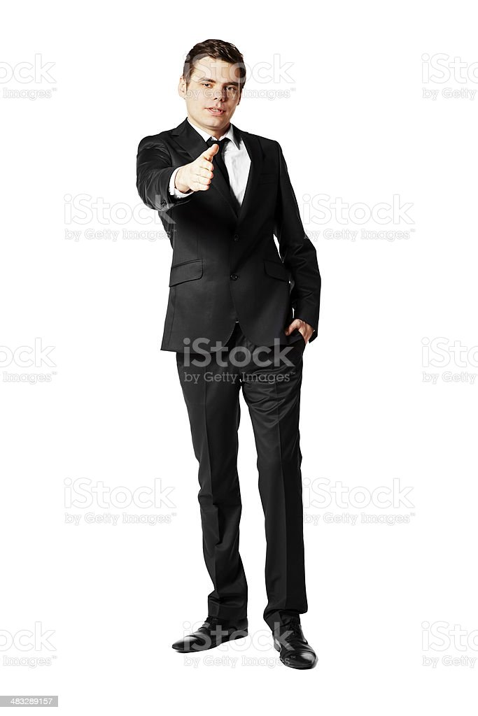 Young man offering for handshake royalty-free stock photo