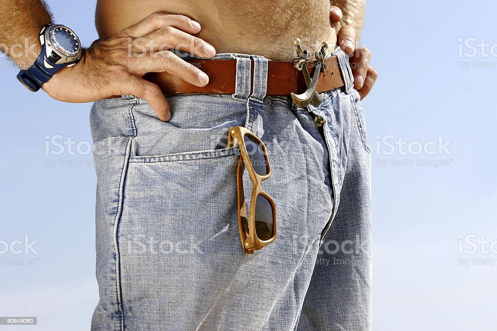 young man on jeans royalty-free stock photo