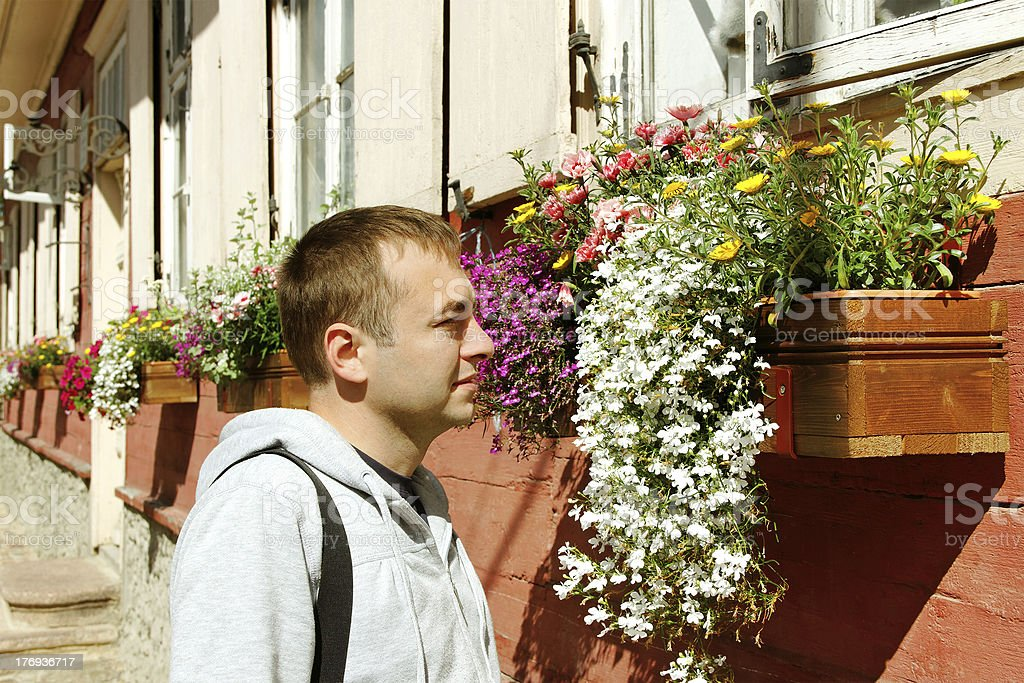 Young man on street. royalty-free stock photo