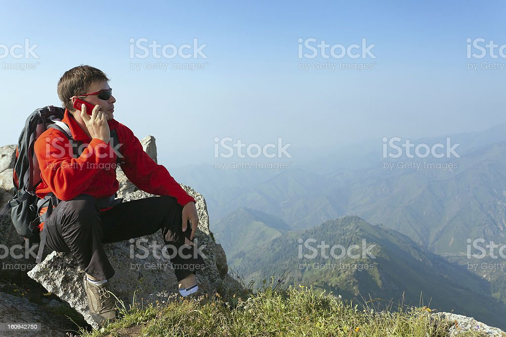 Young man on top. royalty-free stock photo