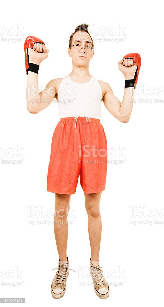 Young man on white background royalty-free stock photo