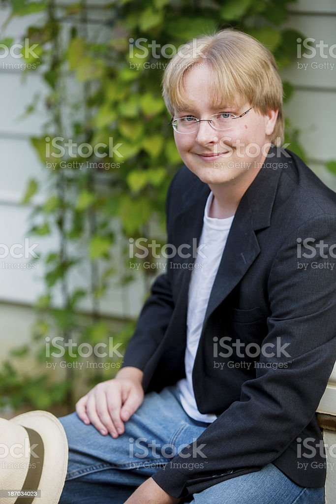 Young Man Outdoors royalty-free stock photo