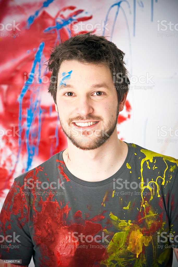 Young Man Painter Portrait royalty-free stock photo