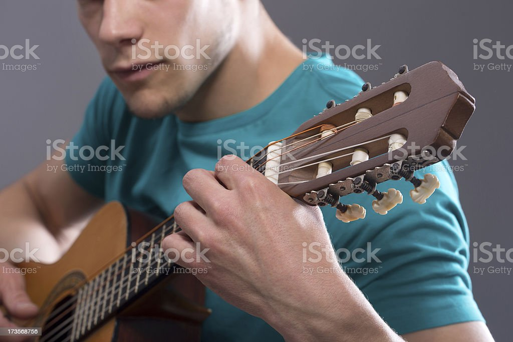 Young Man Playing Guitar royalty-free stock photo