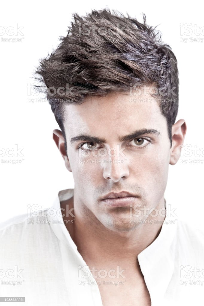 Young man portrait stock photo