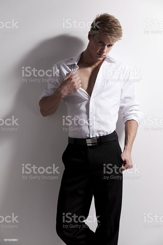 Young man posing royalty-free stock photo