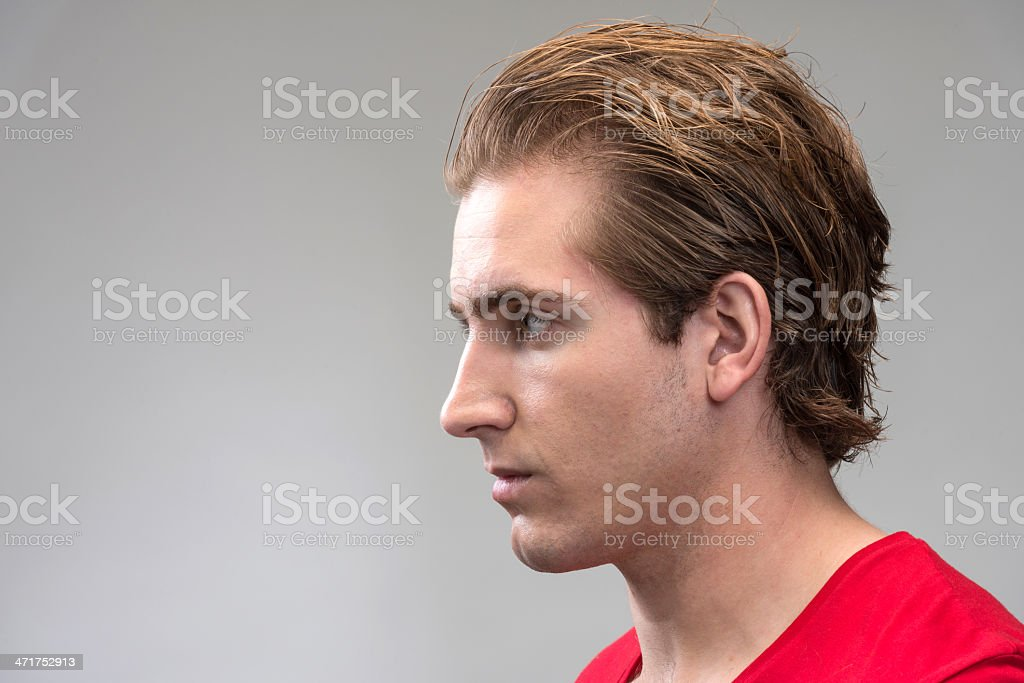 Young man profile (real people) royalty-free stock photo