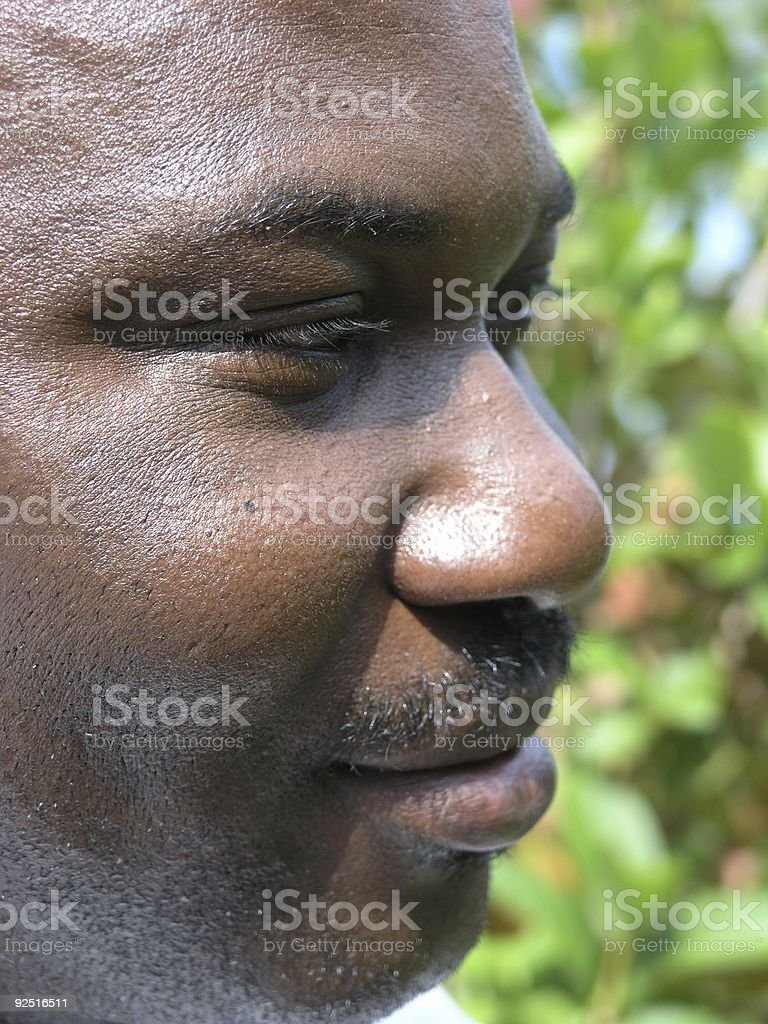 Young Man Profile stock photo