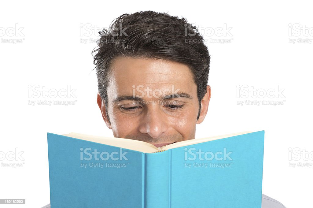 Young Man Reading Book royalty-free stock photo