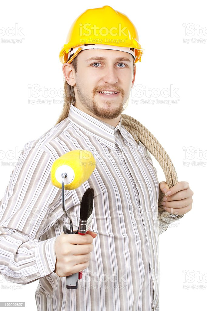 Young Man Ready to Repair royalty-free stock photo