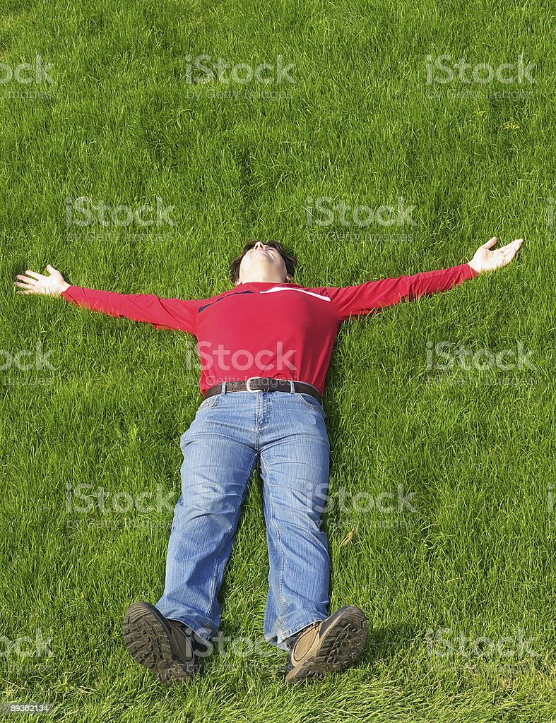 Young man resting royalty-free stock photo