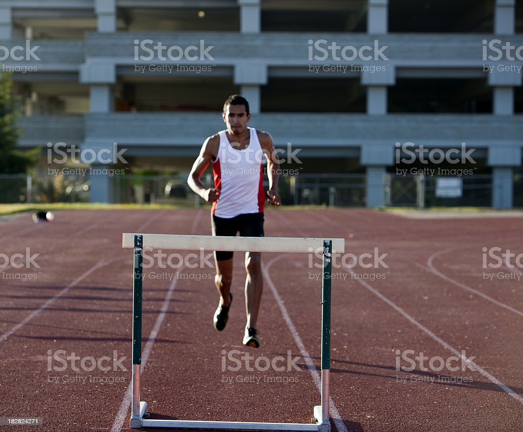 Young Man Running royalty-free stock photo