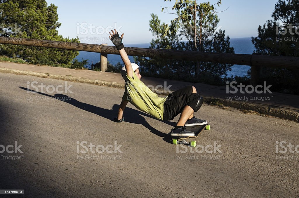 Young man skateboarding royalty-free stock photo
