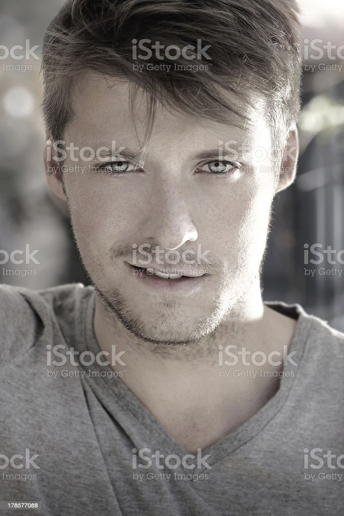 Young man smile royalty-free stock photo