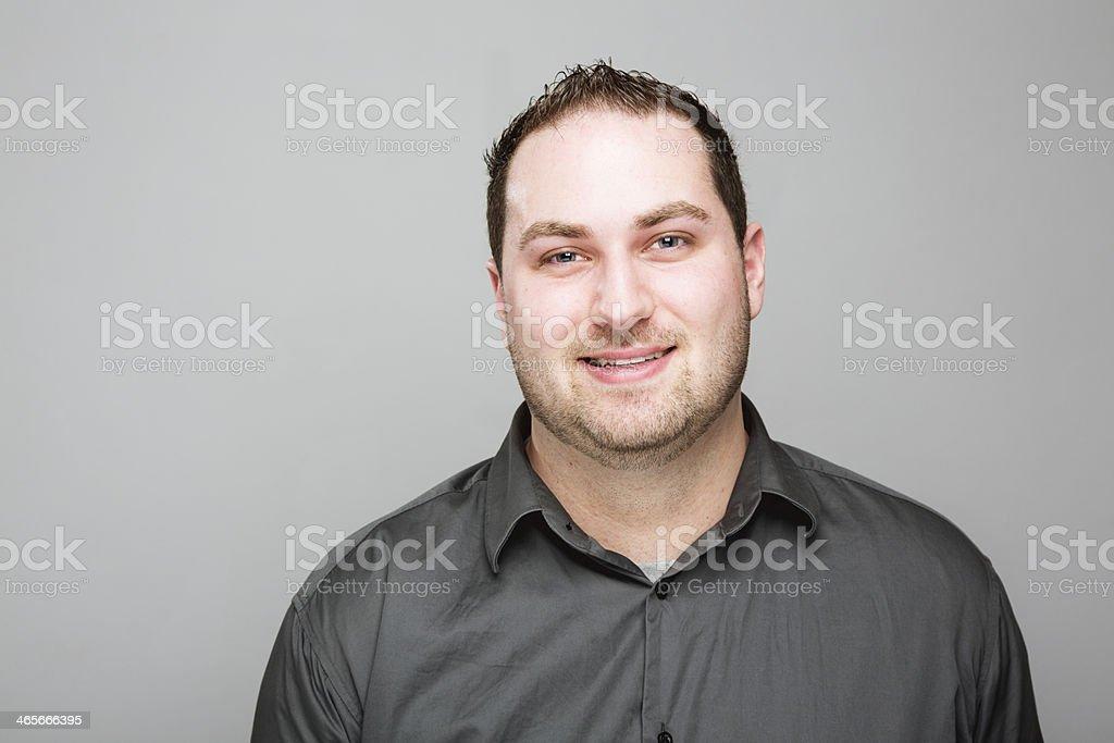 young man smile portrait stock photo