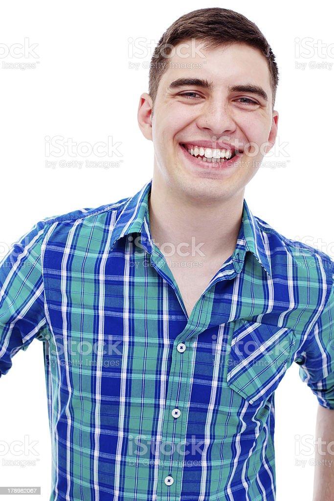 Young man smiling closeup royalty-free stock photo