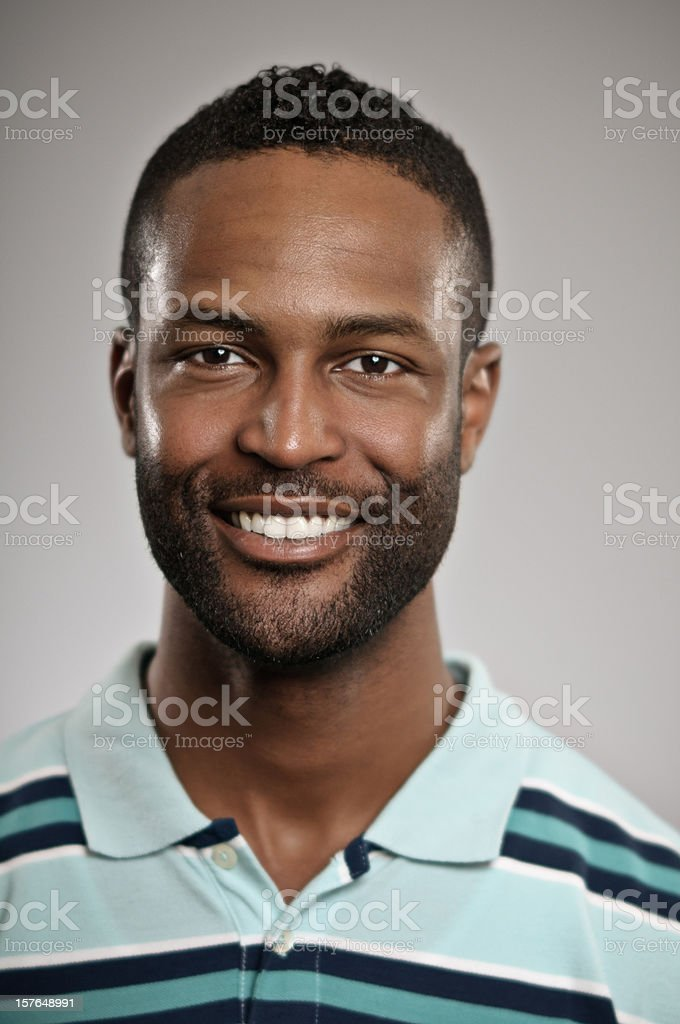 Young Man Smiling Portrait royalty-free stock photo