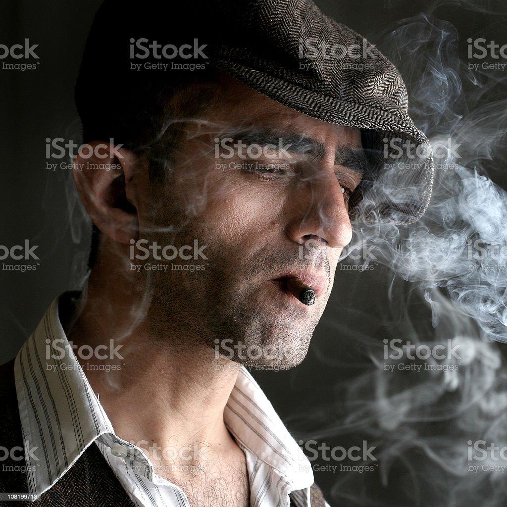 Young Man Smoking royalty-free stock photo