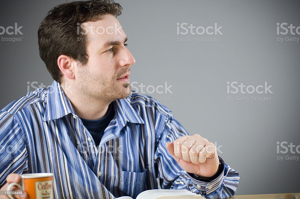 young man speaking royalty-free stock photo