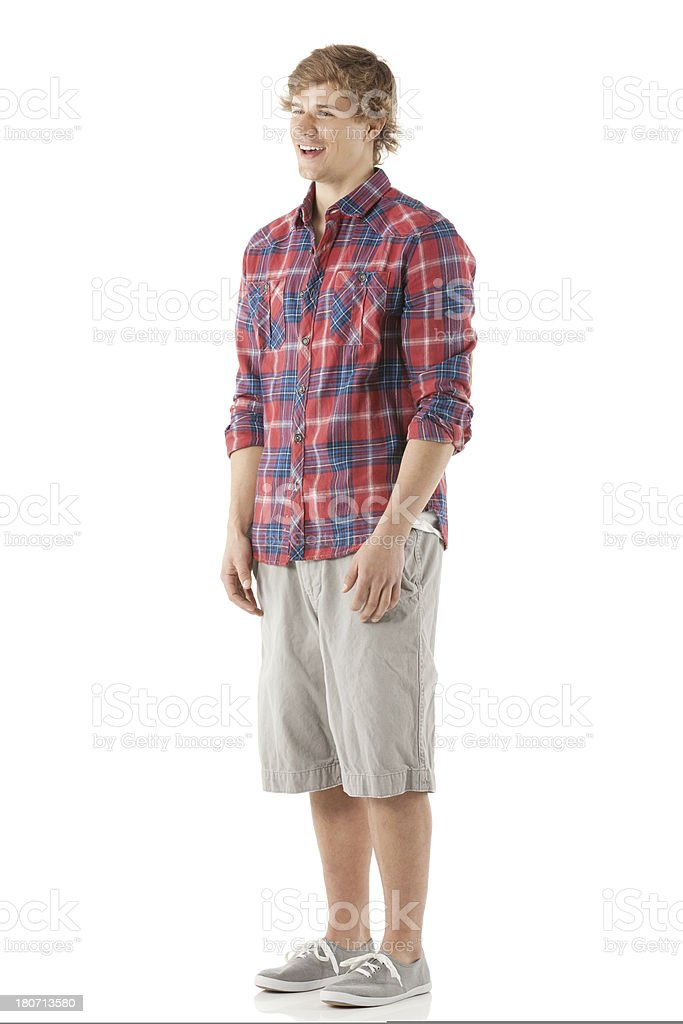 Young man standing royalty-free stock photo