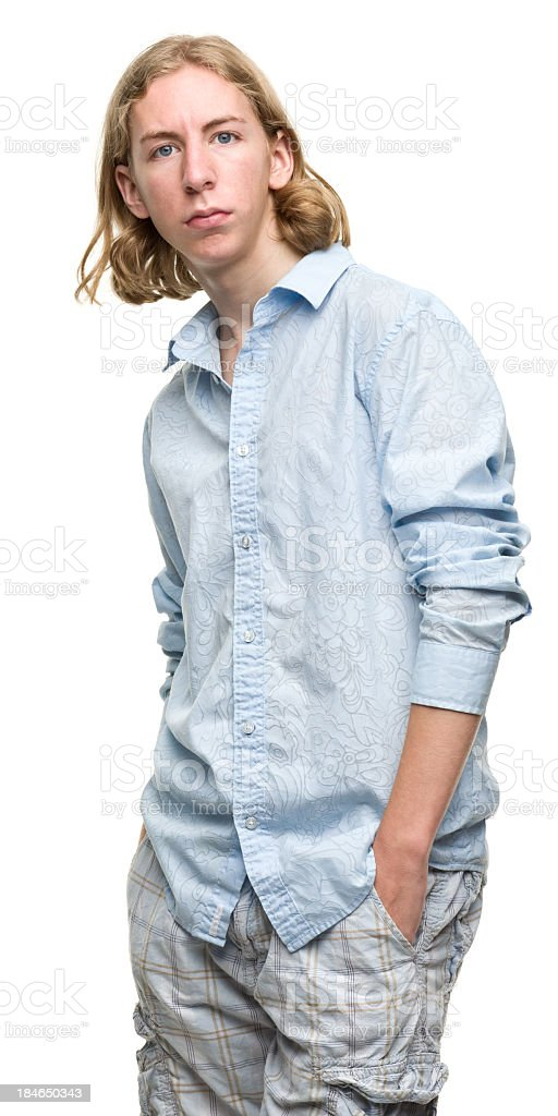 Young Man Staring at Camera royalty-free stock photo