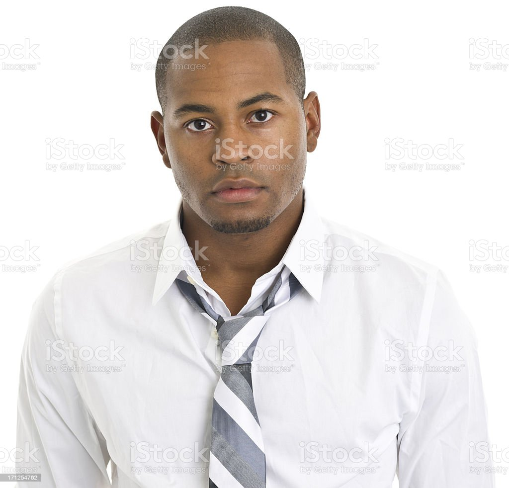 Young Man Staring With Blank Expression royalty-free stock photo
