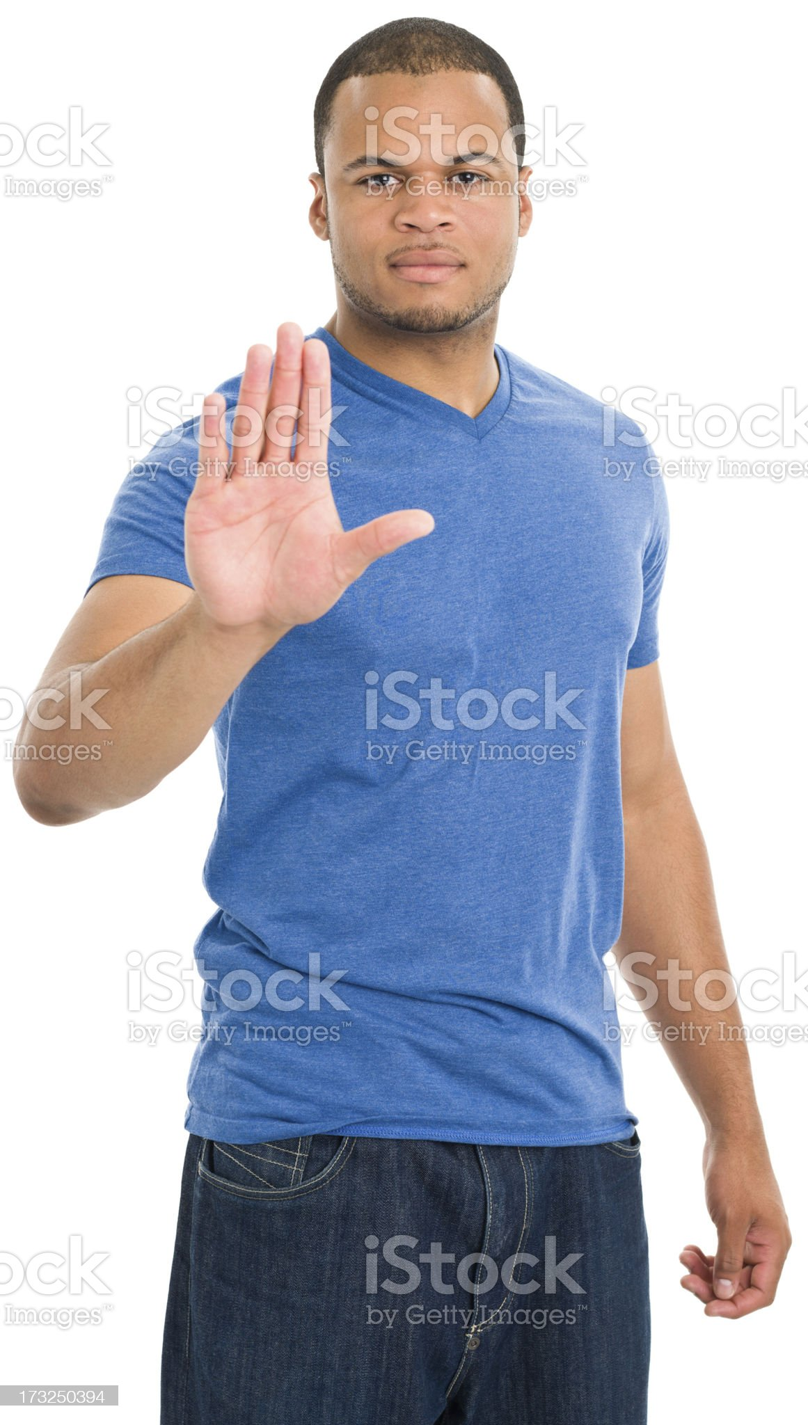 Young Man Stop Gesture royalty-free stock photo