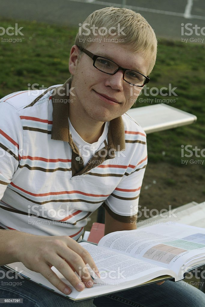 Young Man Studying stock photo
