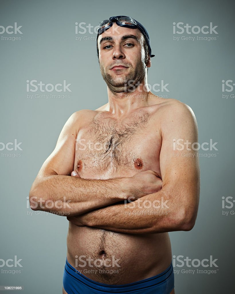 Young Man Swimmer royalty-free stock photo