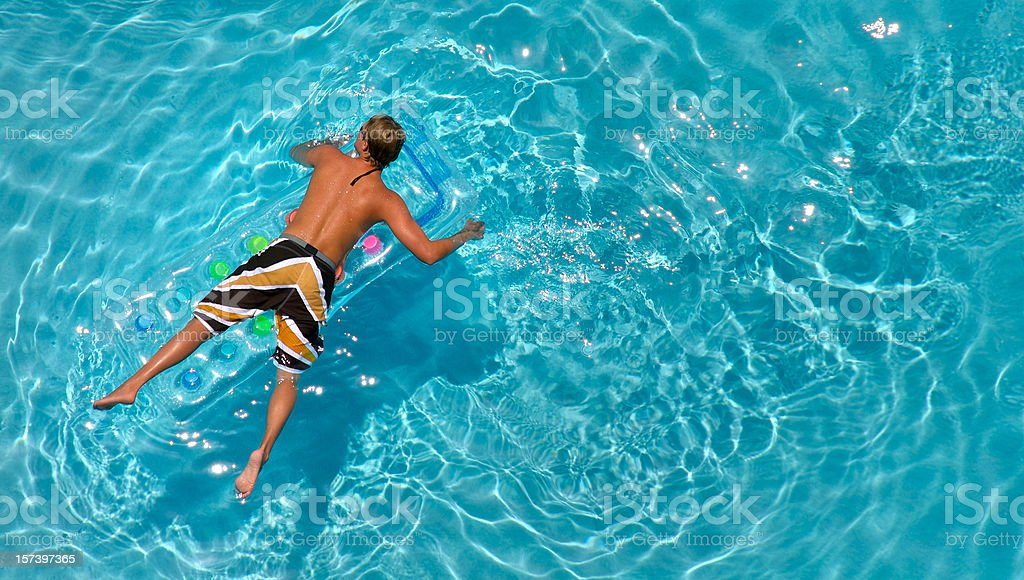 Young Man Swimming royalty-free stock photo