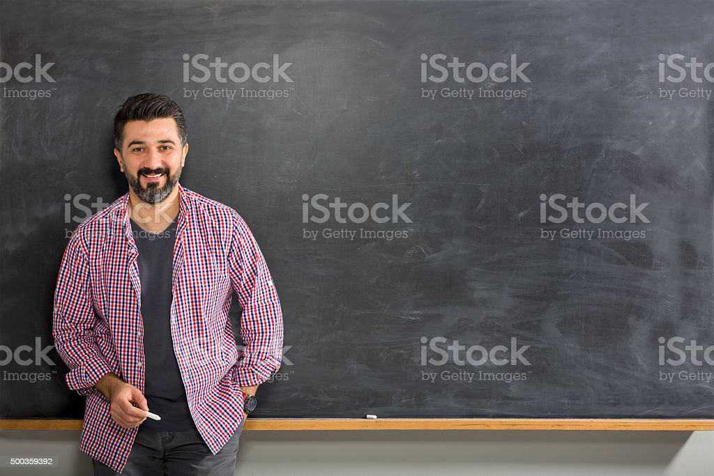 Young Man Teacher stock photo