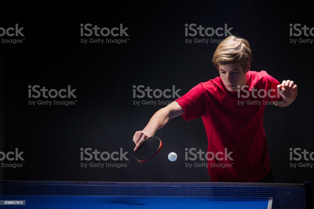 young man tennis player stock photo
