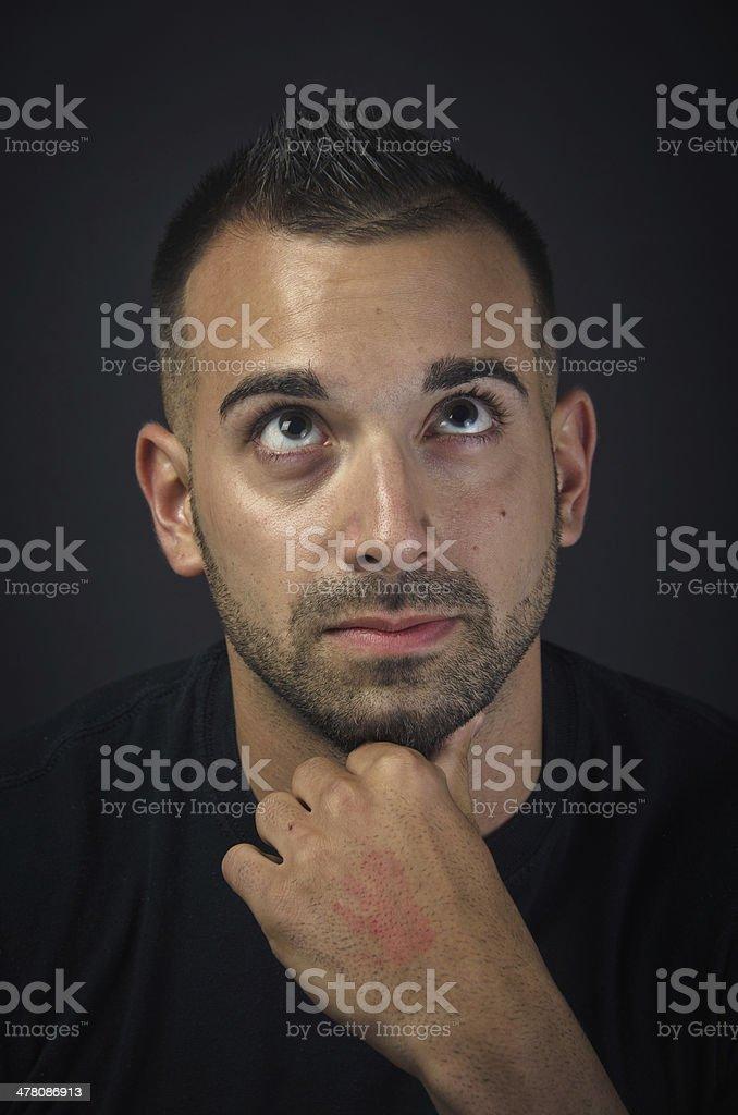 Young man thinking royalty-free stock photo