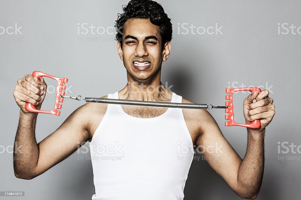 Young man training royalty-free stock photo