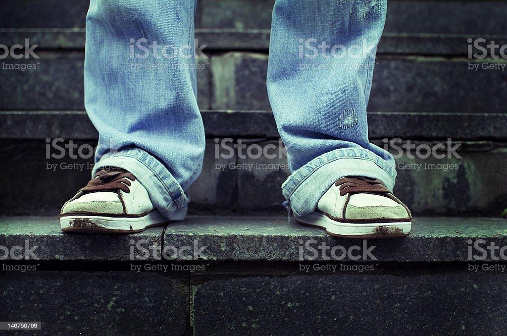 Young man waiting royalty-free stock photo