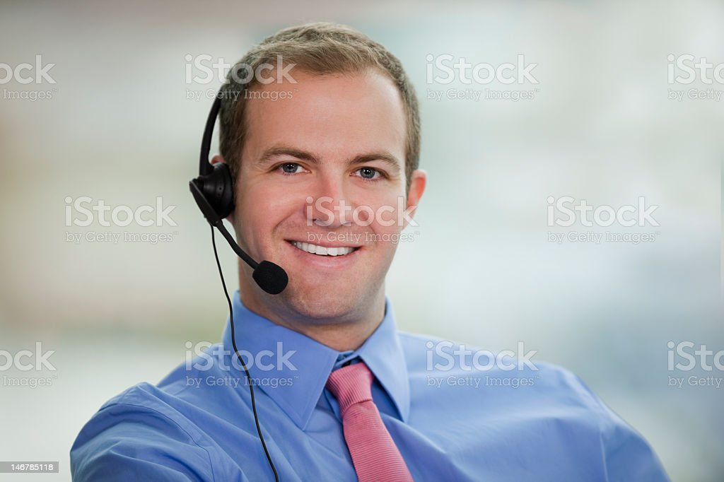 Young Man Wearing Headset royalty-free stock photo