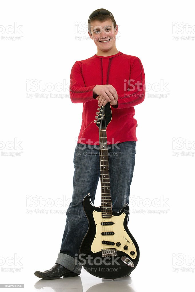young man with a guitar royalty-free stock photo