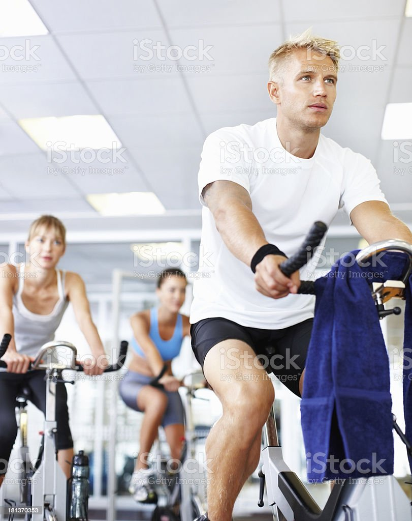 Young man with a healthy lifestyle royalty-free stock photo