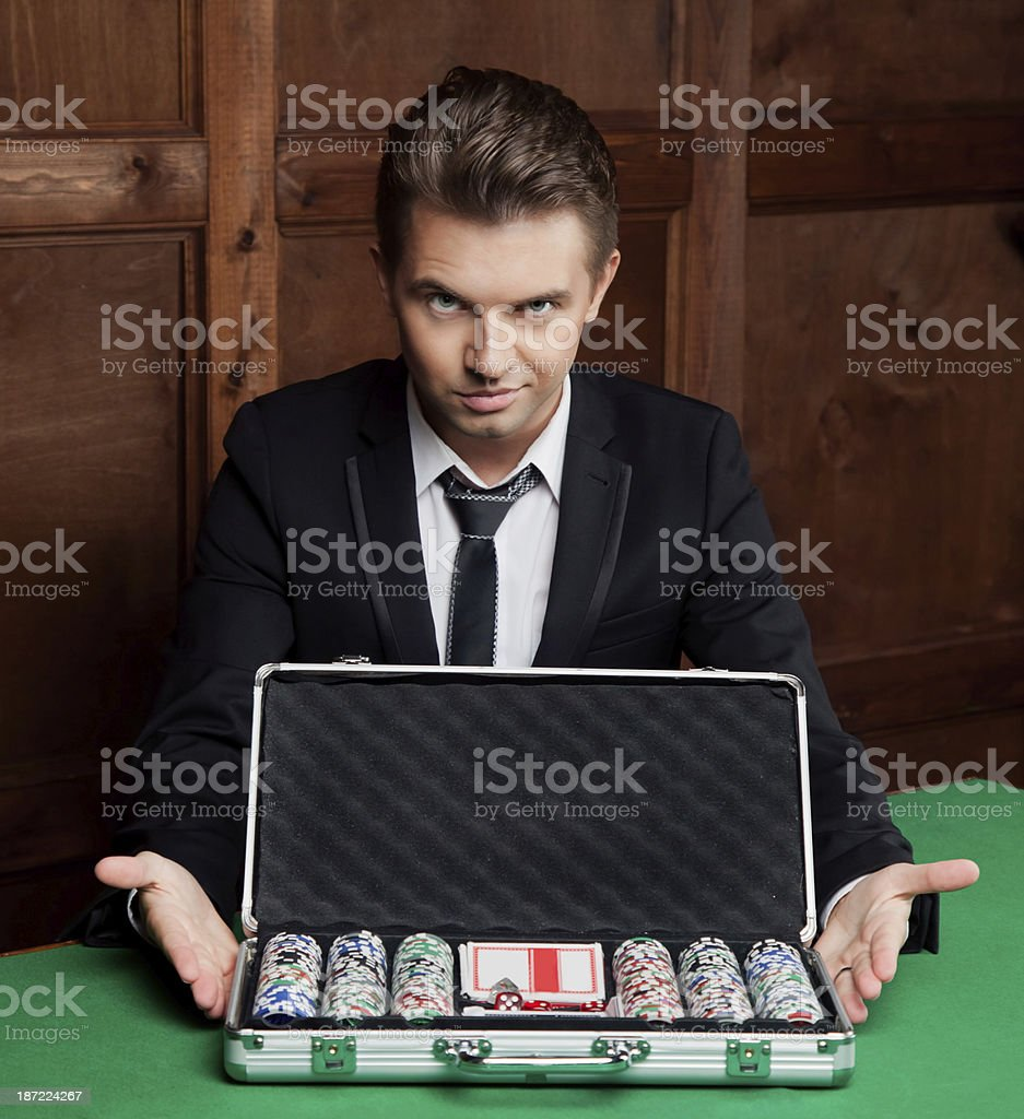 young man with a suitcase royalty-free stock photo
