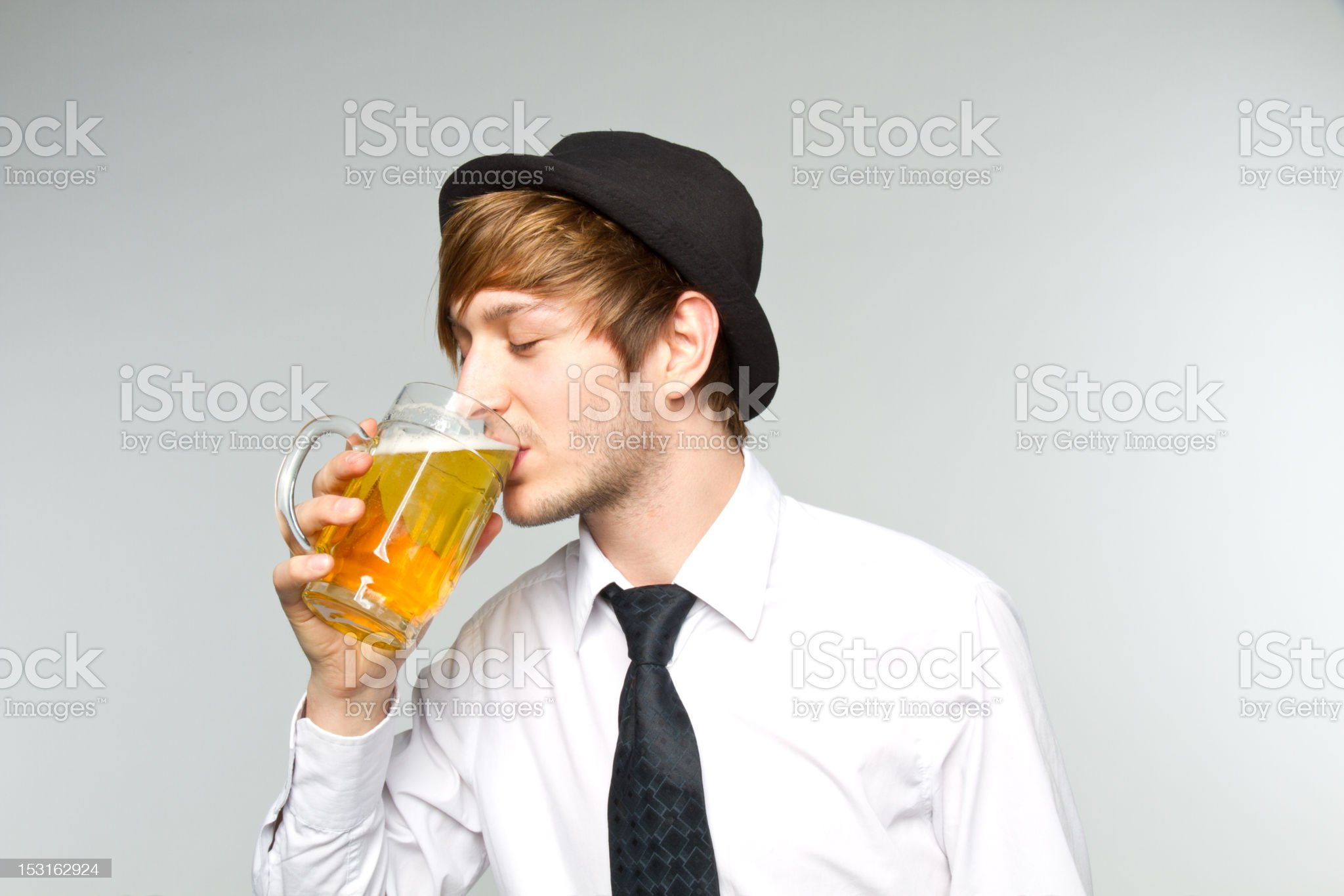 young man with beer royalty-free stock photo