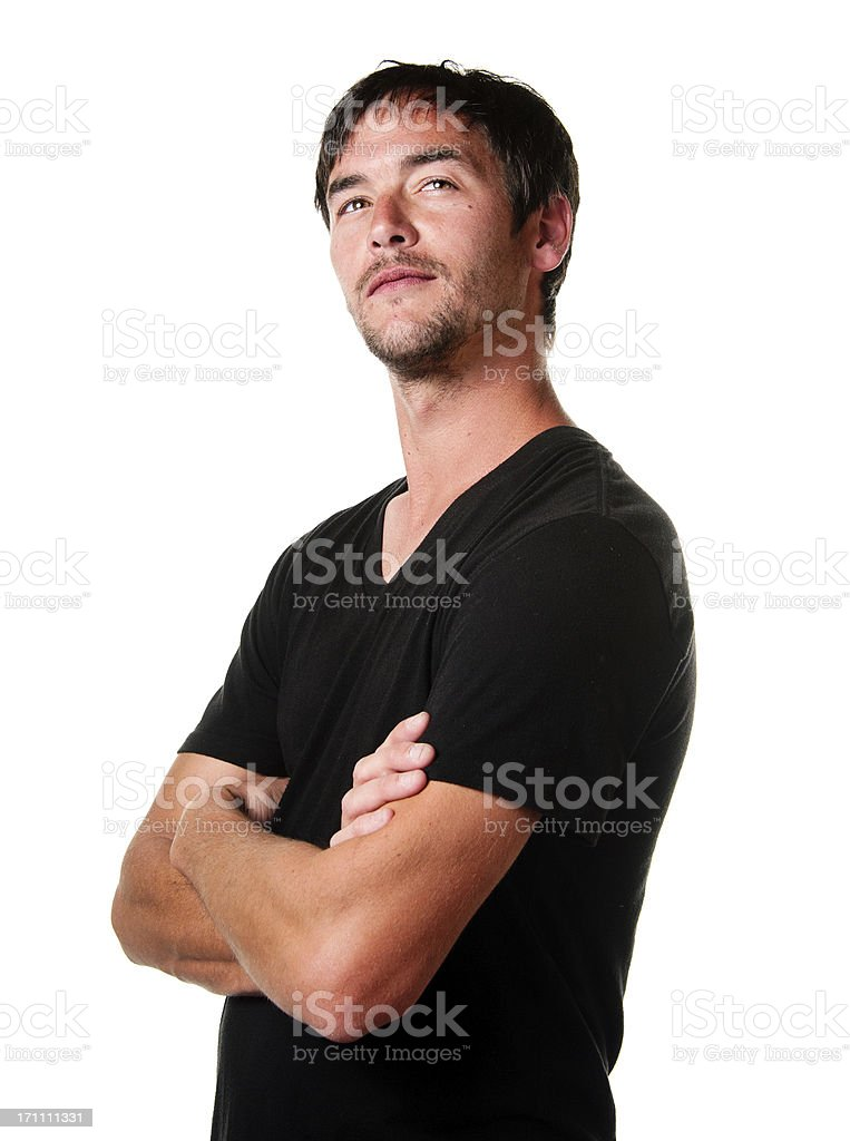 Young Man With Condescending Expression royalty-free stock photo