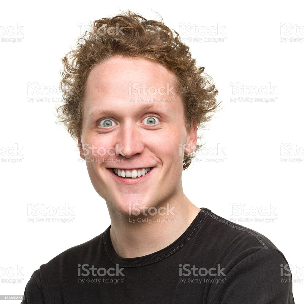 Young Man With Crazy Smile royalty-free stock photo