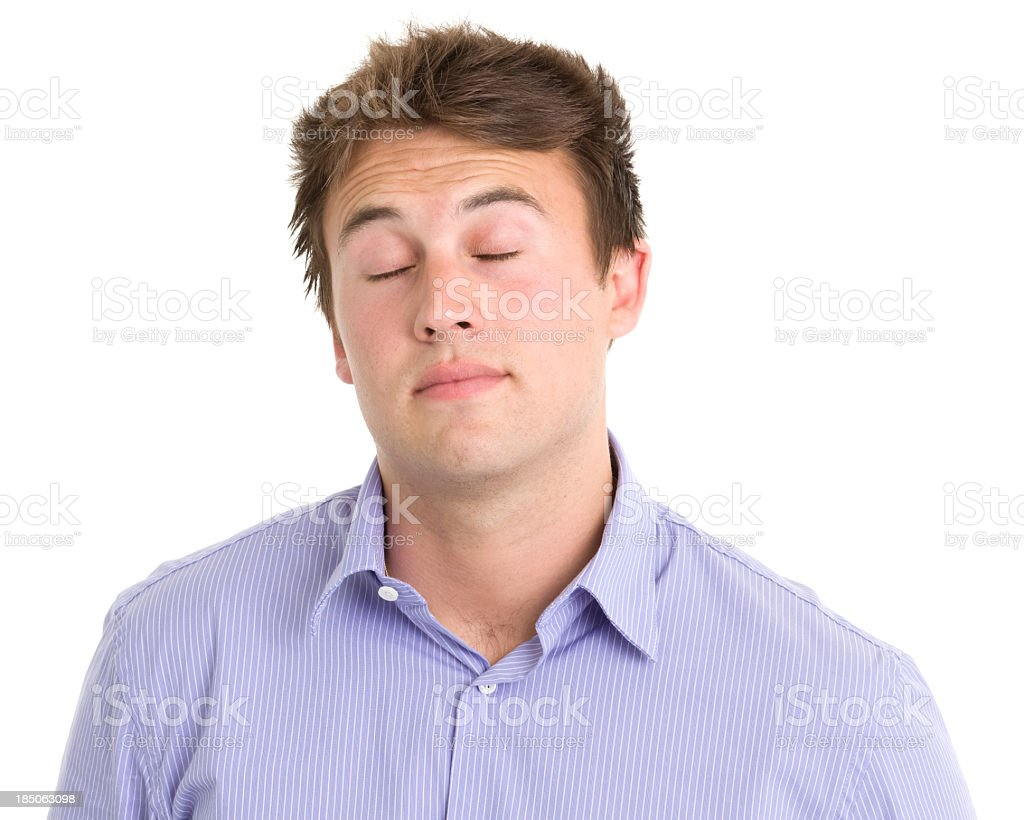 Young Man With Eyes Closed royalty-free stock photo