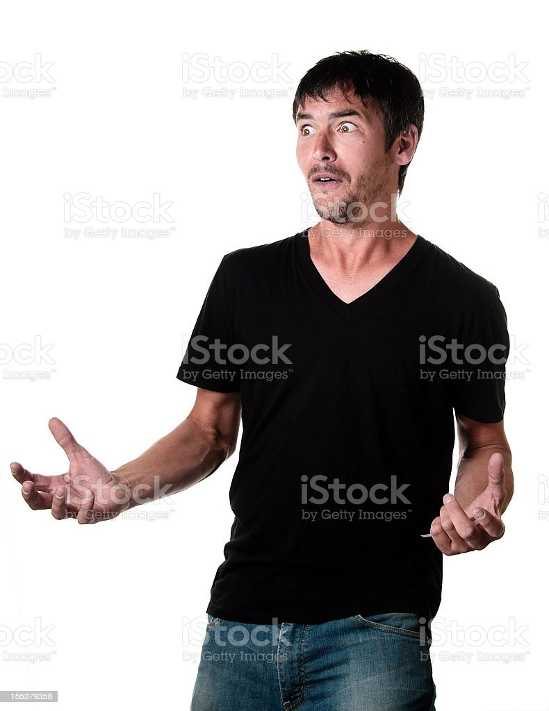 Young Man With Fear Expression royalty-free stock photo