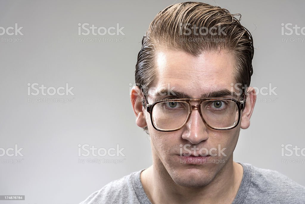 Young man with glasses (real people) royalty-free stock photo
