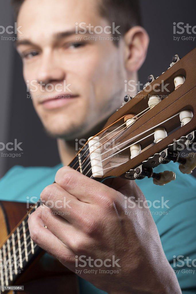 Young Man With Guitar royalty-free stock photo