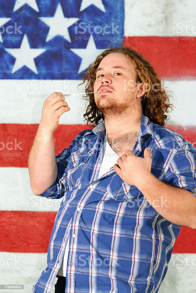 Young man with Gum stock photo