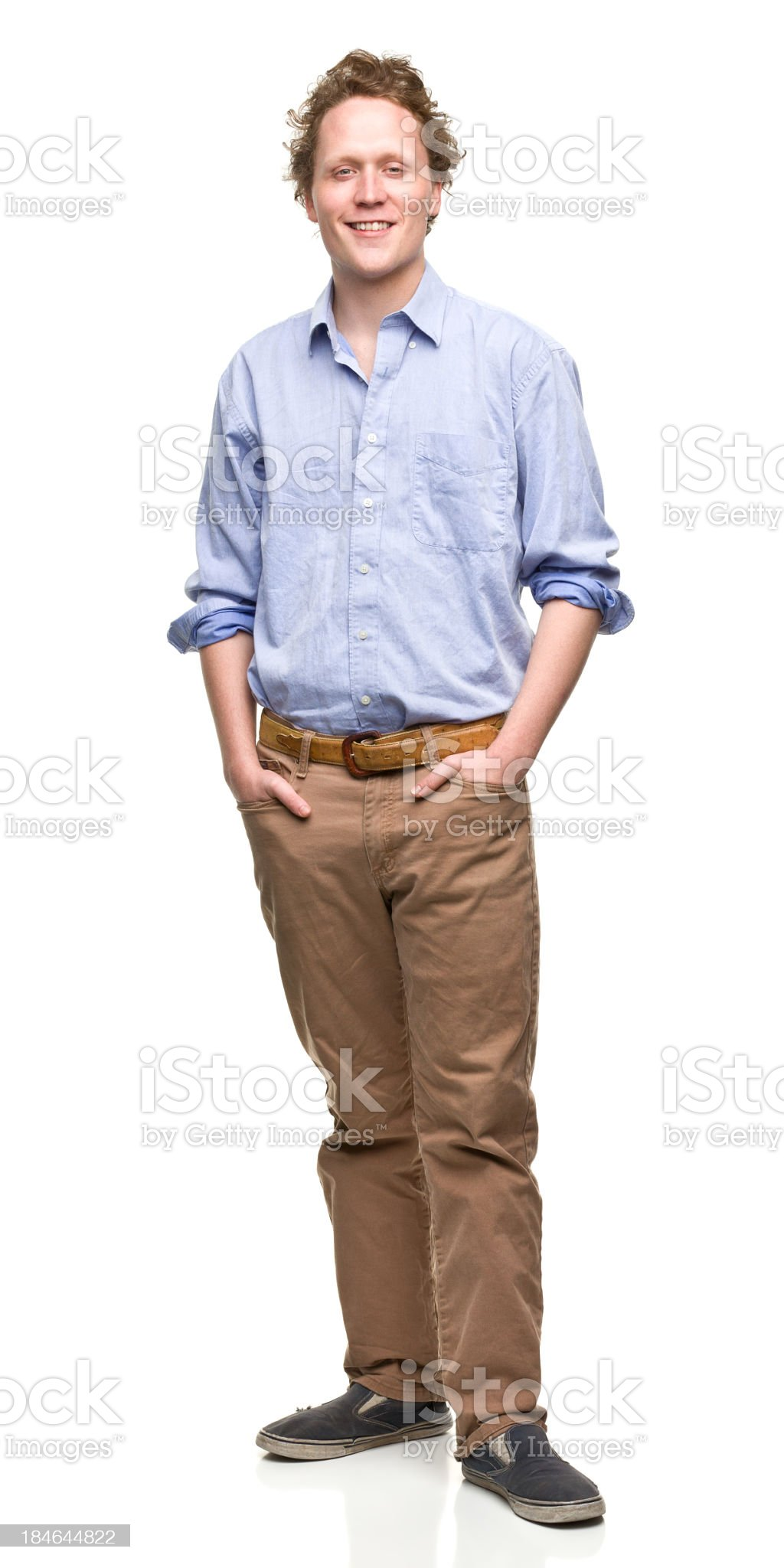 Young Man With Hands in Pockets royalty-free stock photo